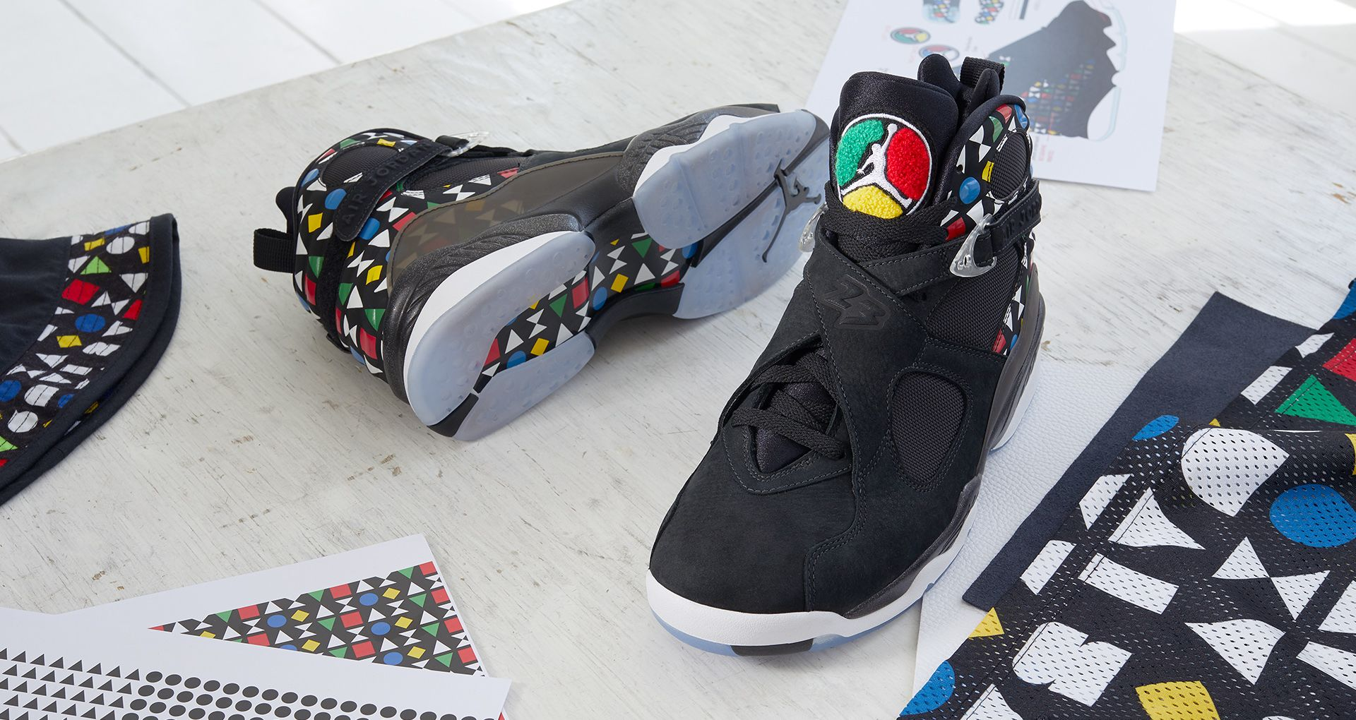 new style 0d5f4 dcf3c Behind The Design: Air Jordan 8 'QUAI 54'. Nike+ Launch FI