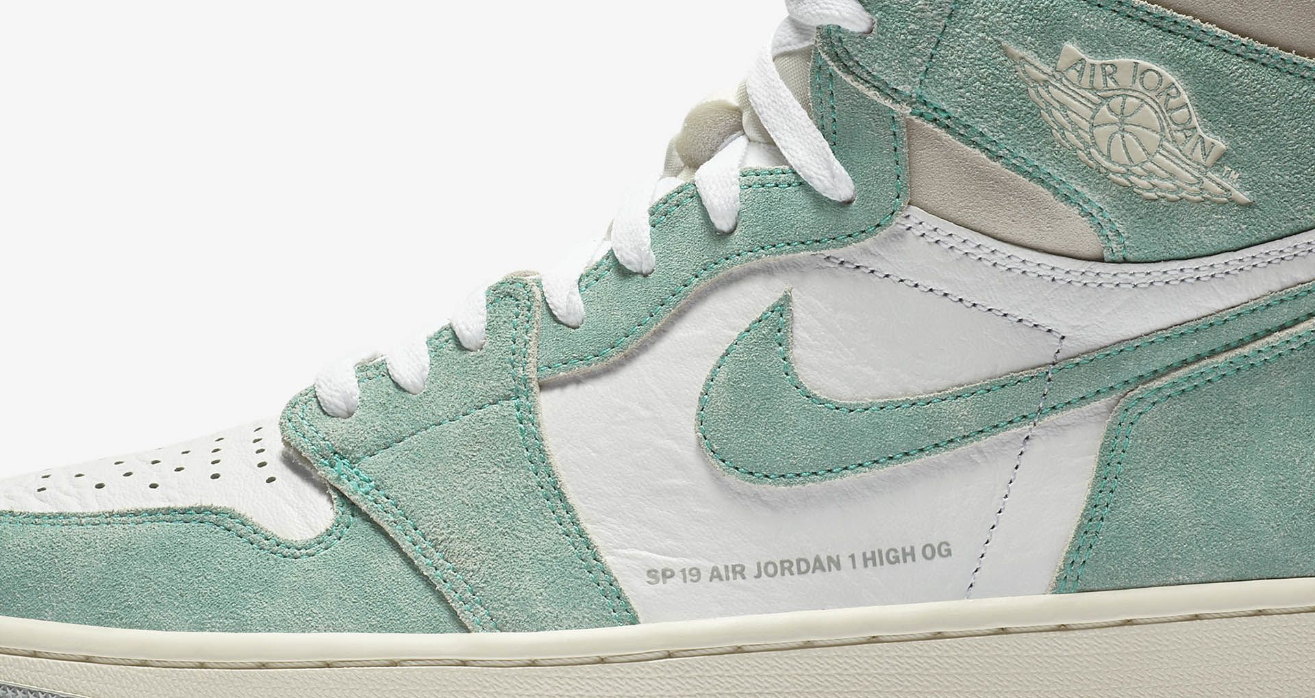 superior quality new appearance sells Air Jordan 1 'Turbo Green & White & Light Smoke Grey ...