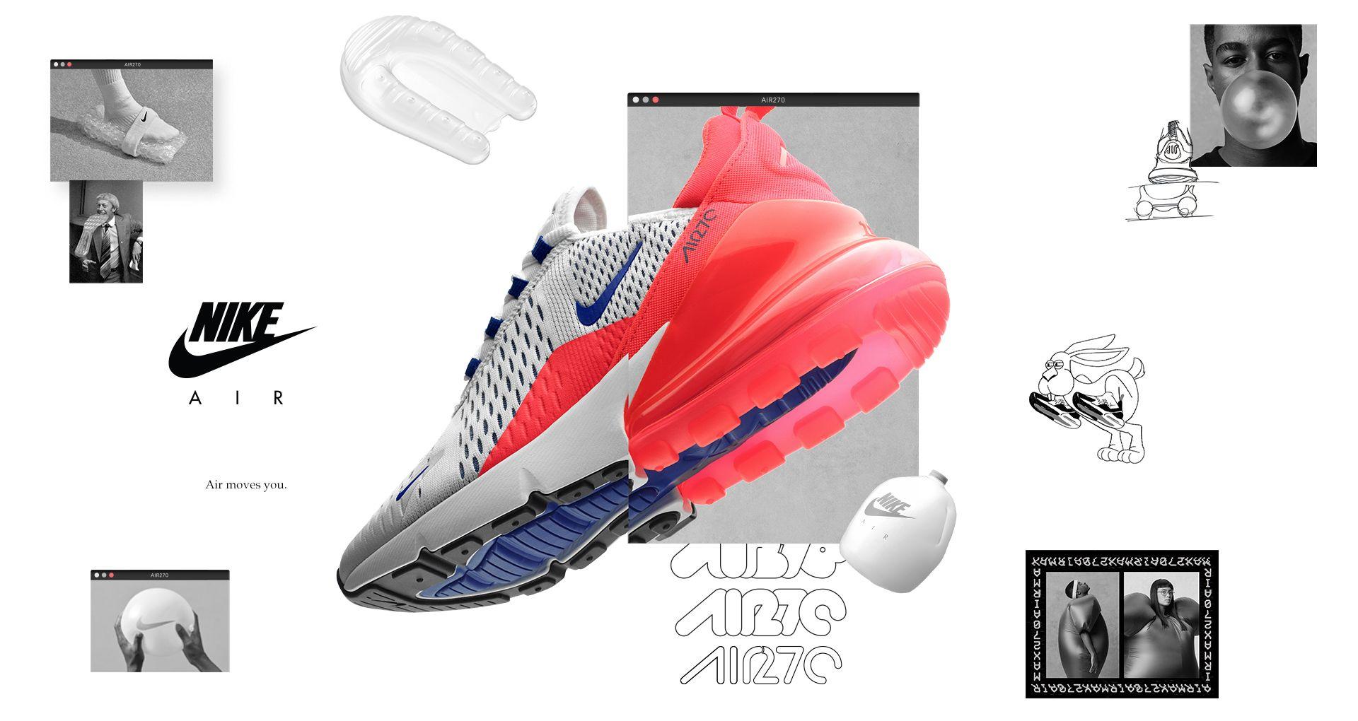 Nike Air Max 270 UltramarineSolar Red For Women