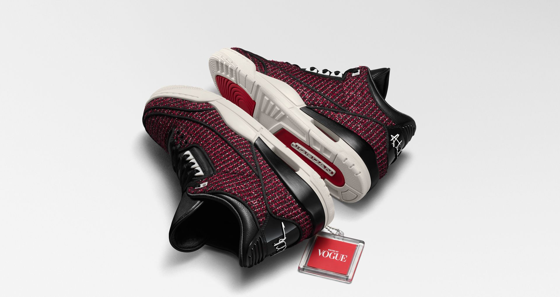 463617c8181965 Women s Air Jordan 3 AWOK   University Red   Sail   Black  Release ...