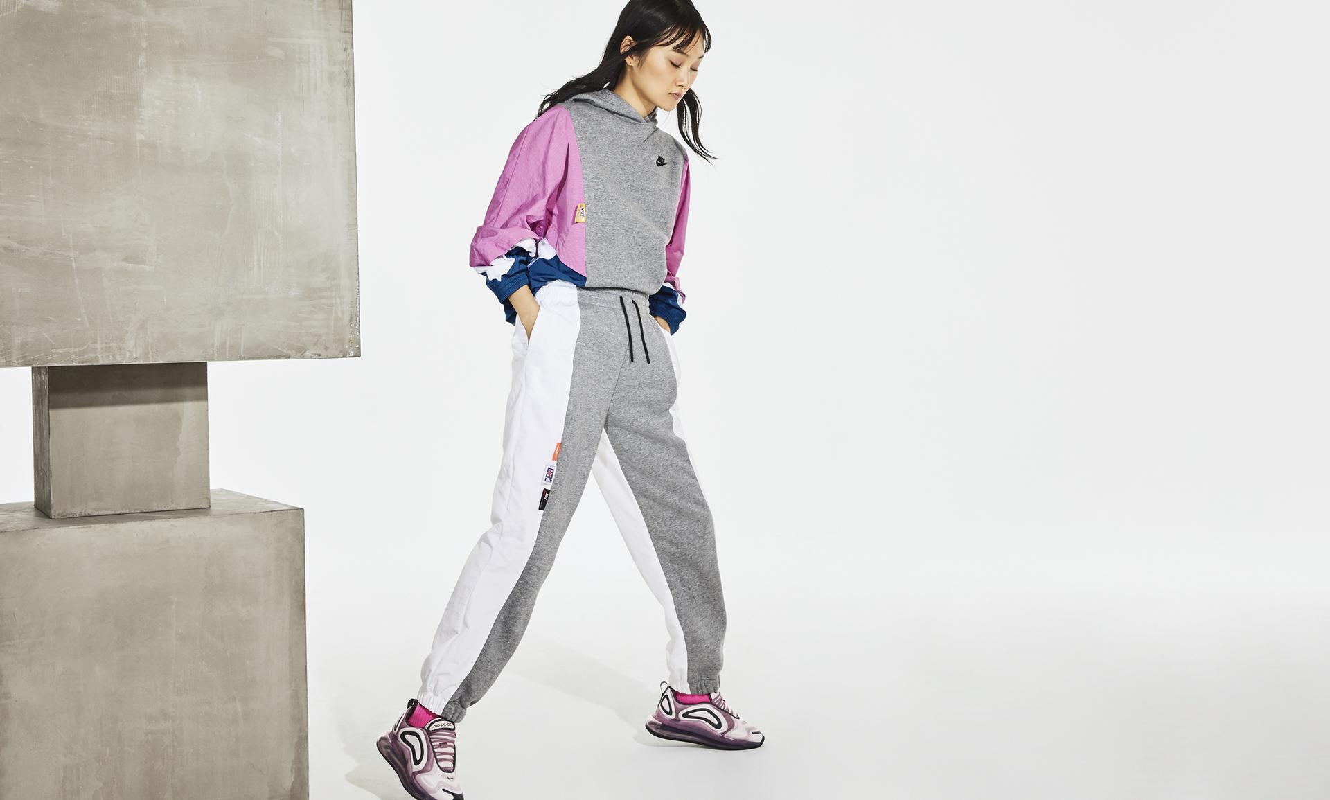 Nike Pullover Mix Fleece Women (Birch Heather) CJ2029 051