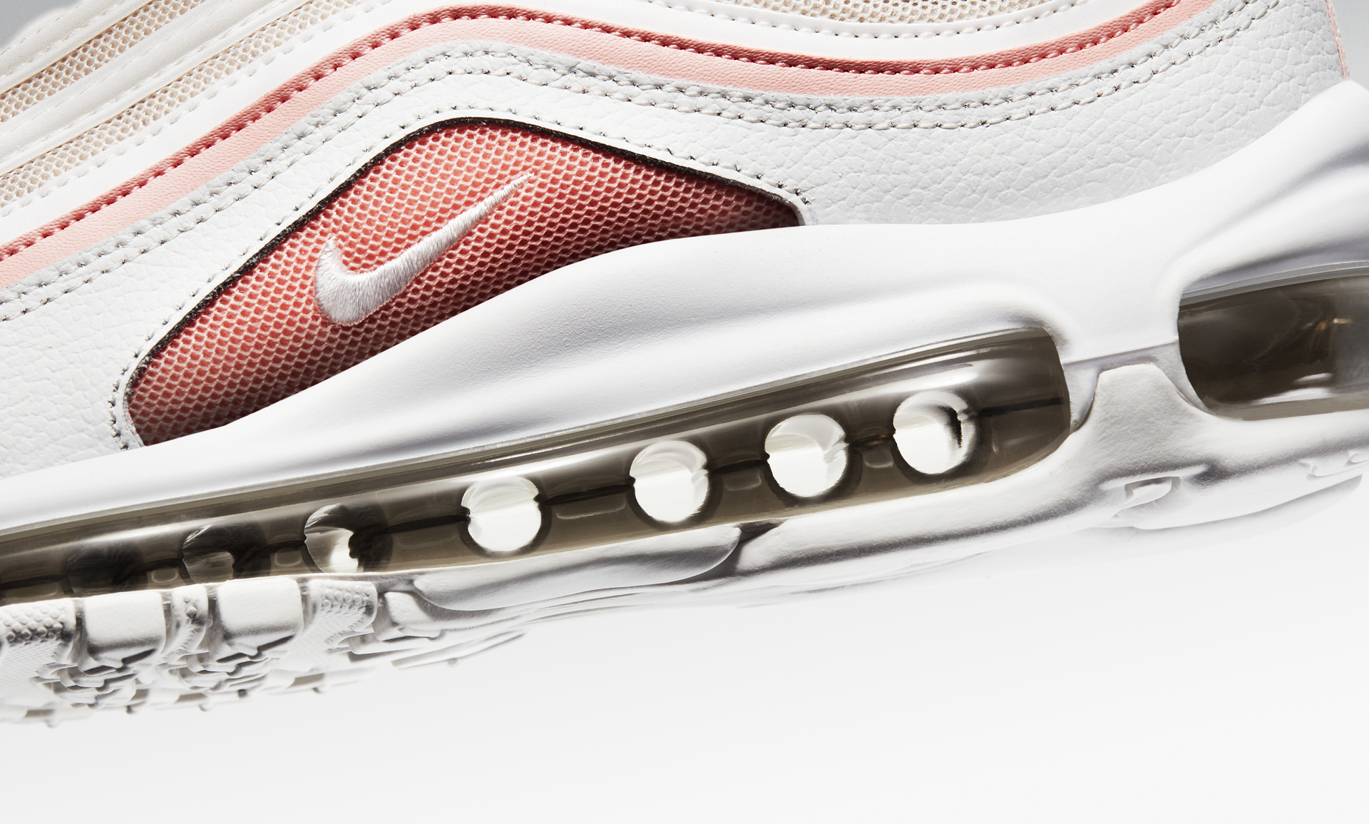 Details about Nike Air Max 97 Women's New Pure Platinum Midnight Navy Pink Sneakers 921733 015
