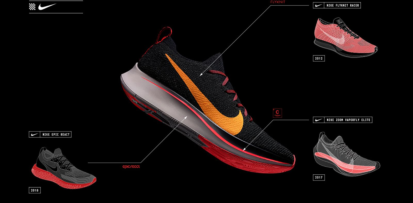 cab5ebd2c478 Forged from a Racing Tradition. The Zoom Fly Flyknit ...