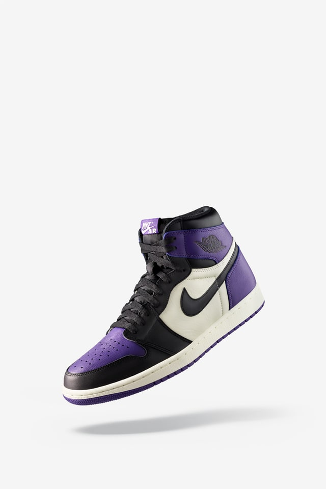 purple black nike shoes