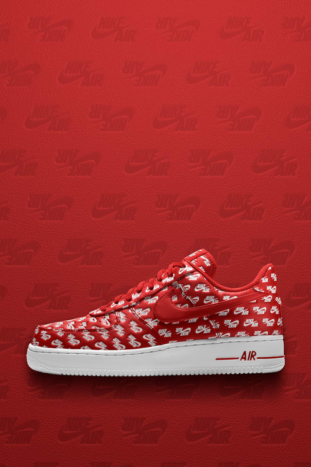 red white nike air force 1