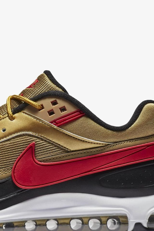 nike air max 97 gold and red