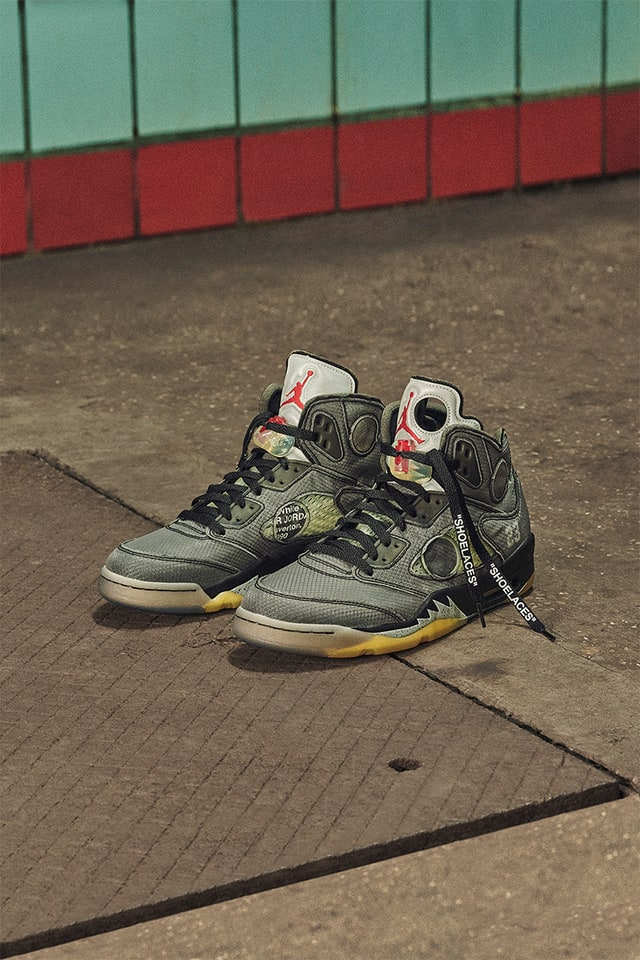 pausa nombre Autónomo  Air Jordan V 'The Virgil Abloh Chicago Collaborators' Collection' Release  Date. Nike SNKRS