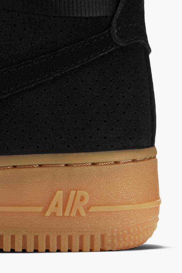 Women S Nike Air Force 1 Hi Black Suede Gum Nike Snkrs