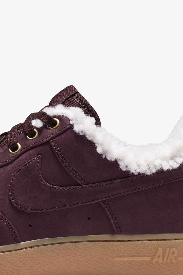 Genuino En lo que respecta a las personas Las bacterias  Nike Air Force 1 Premium Winter 'Burgundy Crush & Gum Light Brown' Release  Date. Nike SNKRS
