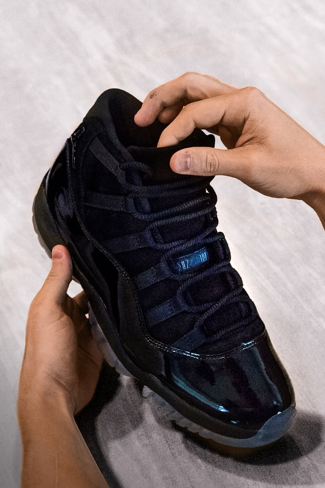 black 11s cap and gown