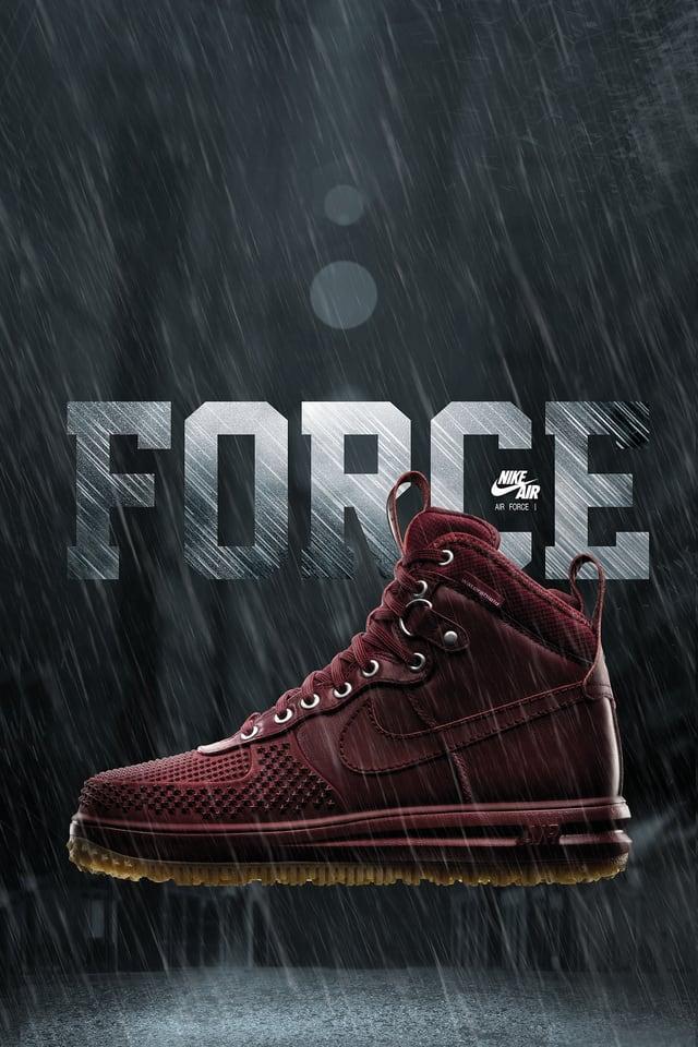 Nike Lunar Force 1 Duckboot 'Team Red