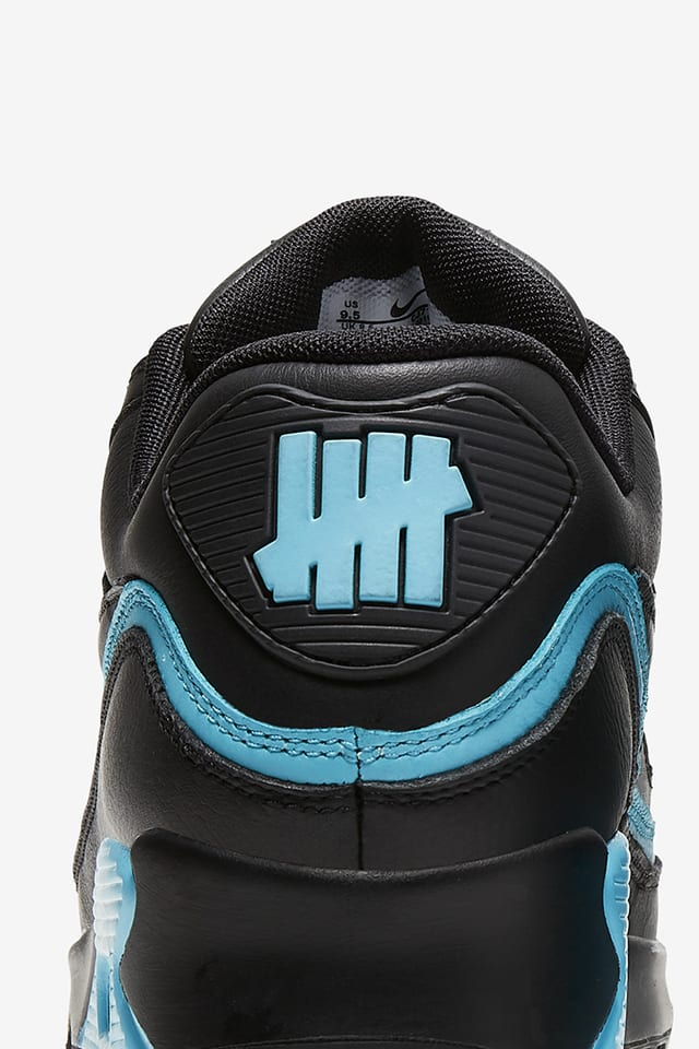 Air Max 90 X Undefeated Black Blue Fury Release Date Nike Snkrs