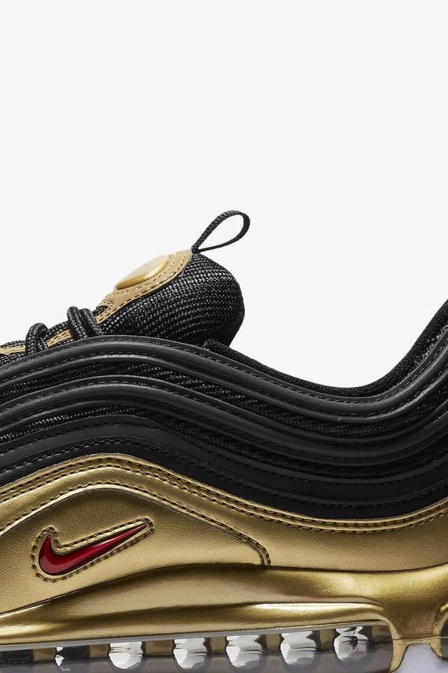 nike air max 97 black gold reflective