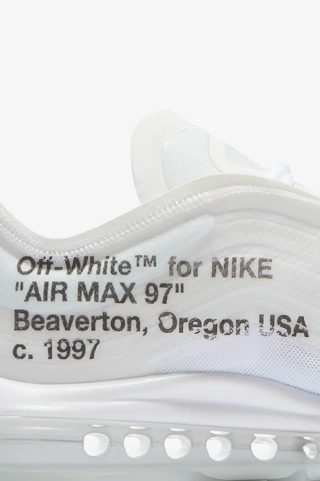 residuo Aditivo egipcio  Nike The Ten Air Max 97 'Off White' Release Date. Nike SNKRS GB