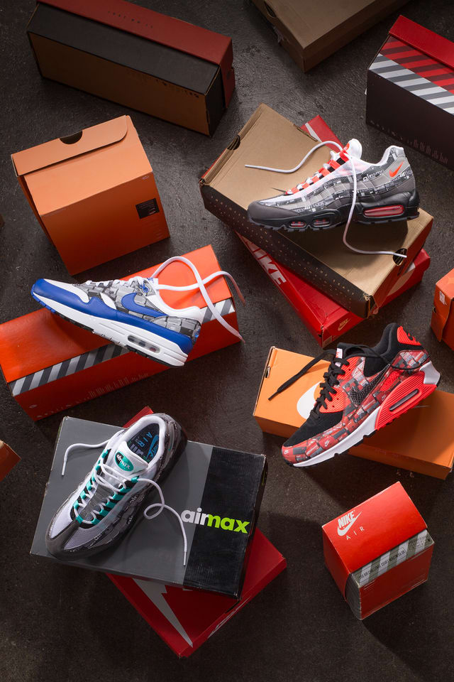 boîte de chaussures nike