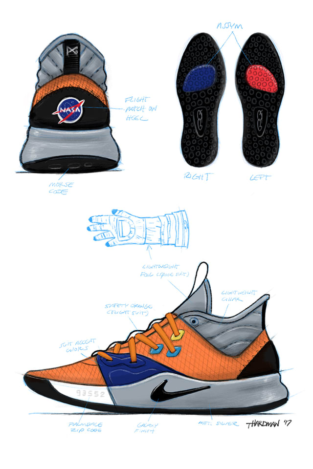 PG3 x NASA. Nike SNKRS JP