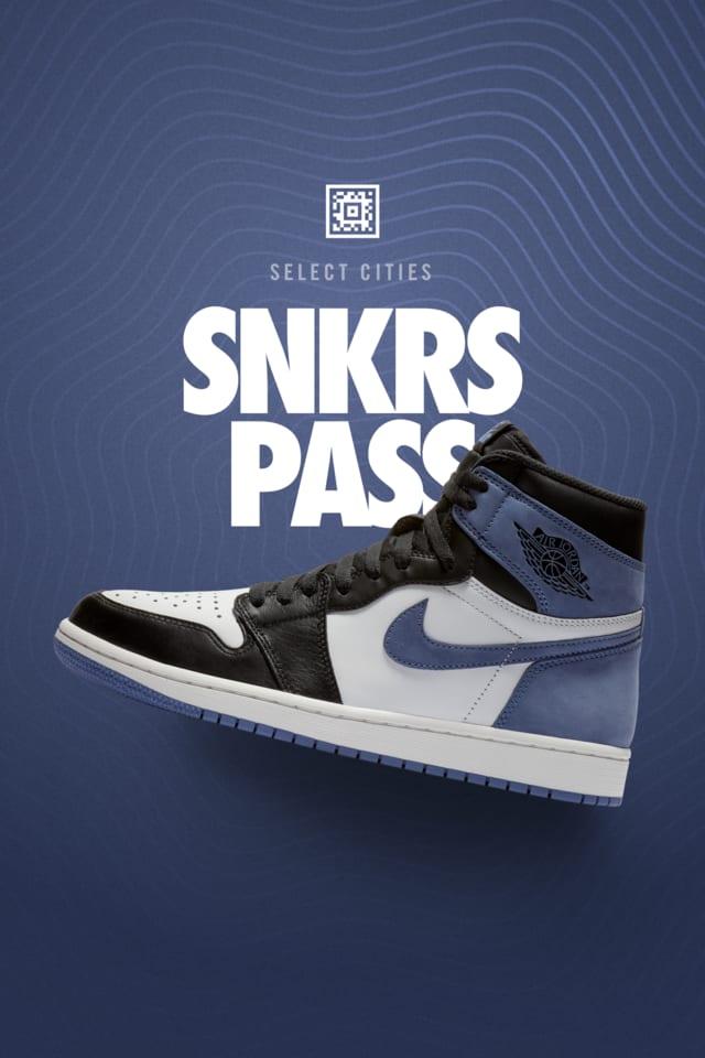 Air Jordan 1 Blue Moon Snkrs Pass Select Cities Nike Snkrs