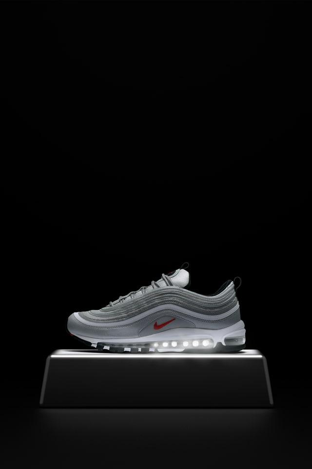 nike air max 97 metallic silver black