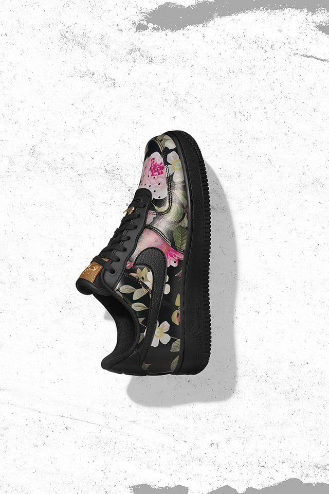 Air Force 1 'Floral \u0026 Black'. Nike SNKRS