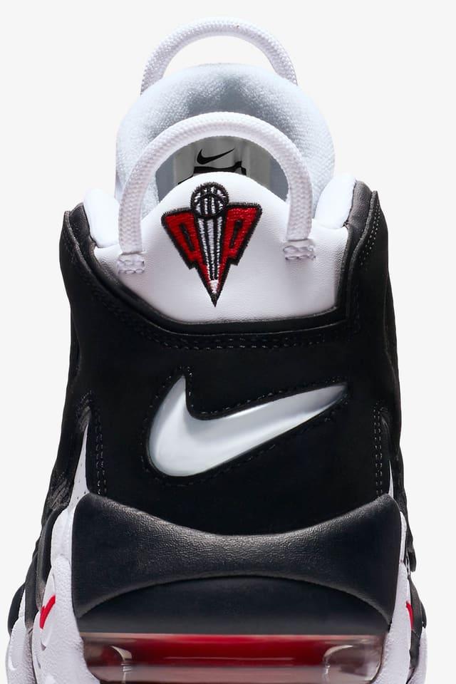 oferta Luminancia Anuncio  Nike Air more Uptempo 96 'White & University Red & Black'. Nike SNKRS