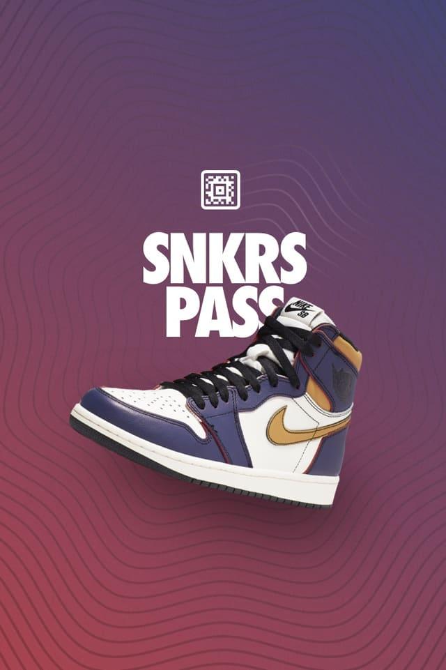 SNKRS Pass: SB x Air Jordan 1 'LA to