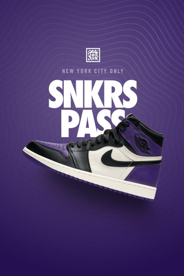 Air Jordan 1 'Court Purple' SNKRS Pass