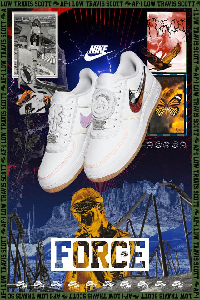 Nike Air Force 1 'Travis Scott' — releasedatum. Nike SNKRS NL