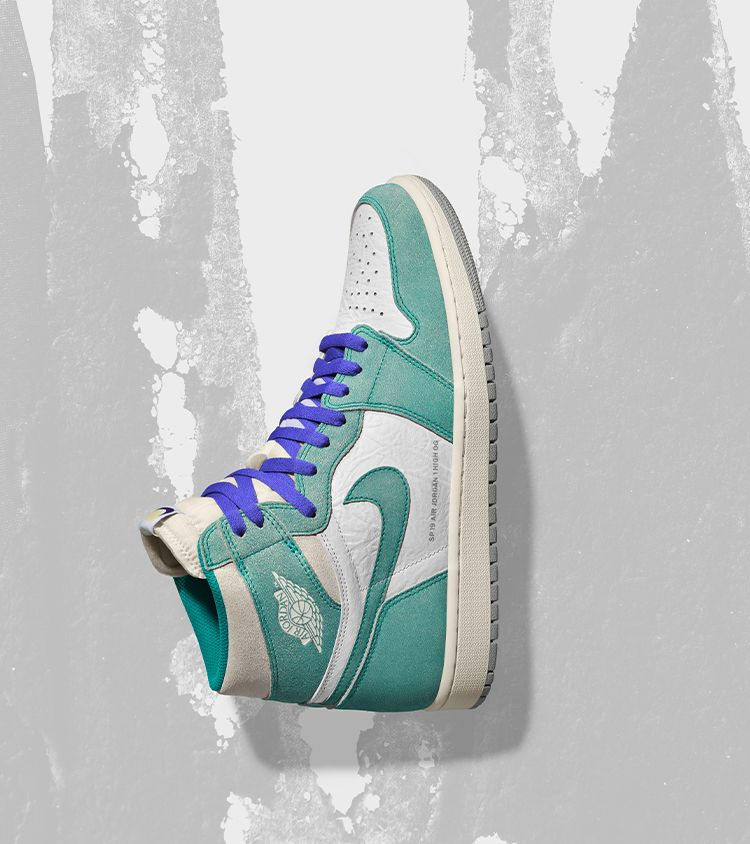 catch outlet store sale autumn shoes Air Jordan 1 'Turbo Green and White and Light Smoke Grey ...