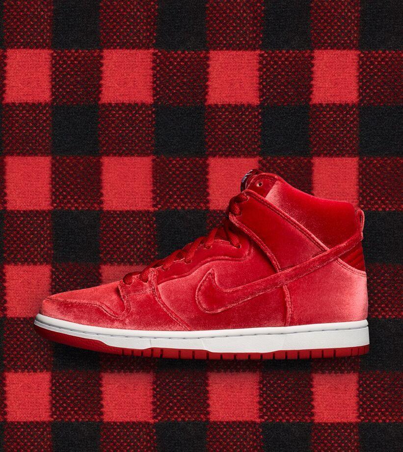 nike red velvet shoes