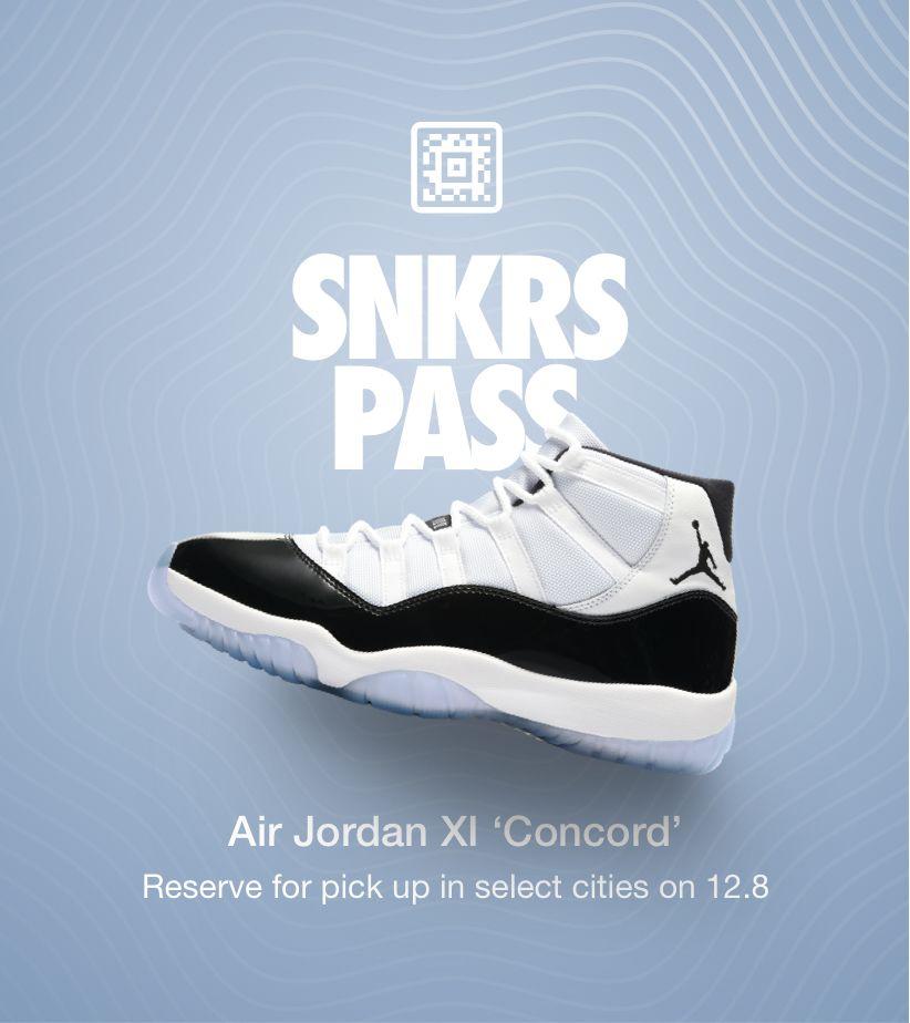 Air Jordan 11 'Concord' SNKRS Pass