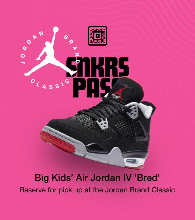 SNKRS Pass: Big Kids' Air Jordan IV