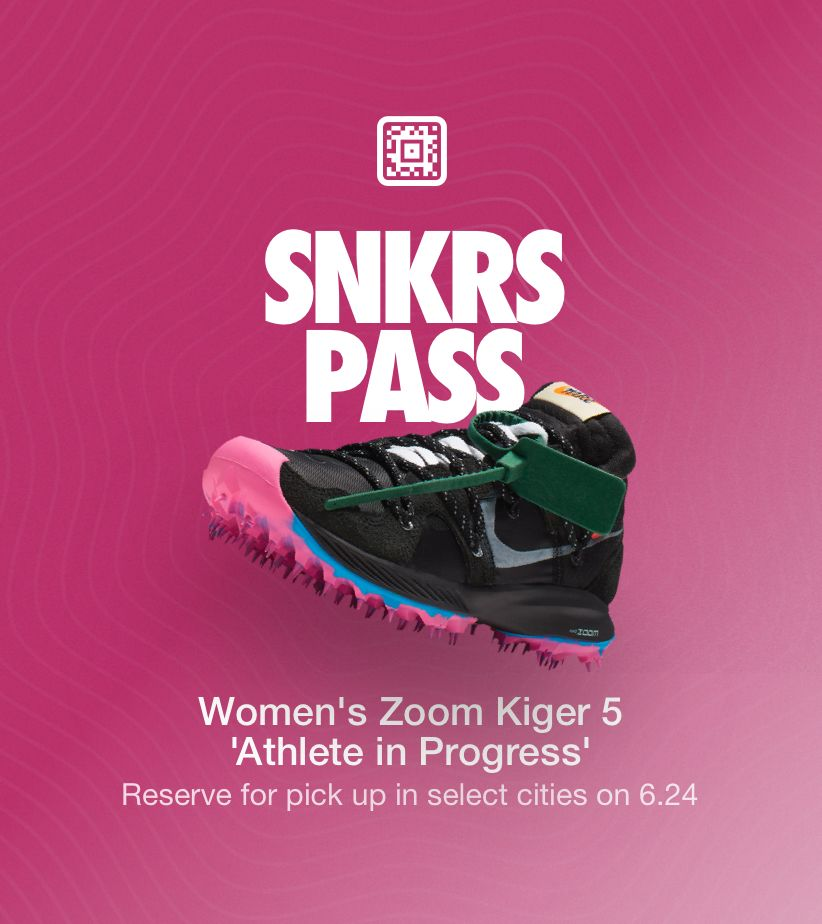 ea587cb4611 SNKRS Pass: Women's Zoom Kiger 'Athlete in Progress' Select Cities