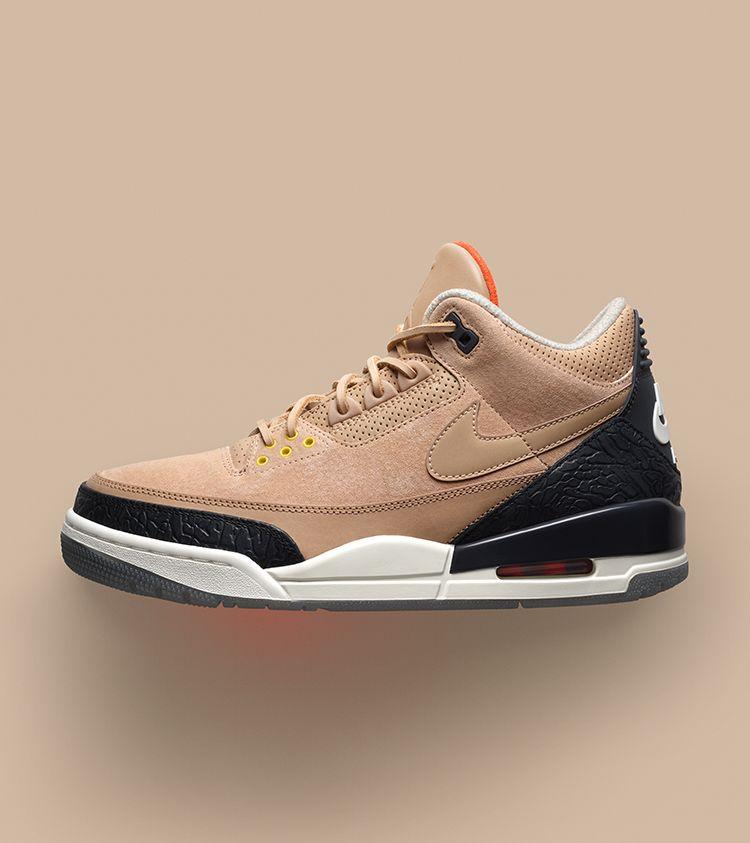 a7d46d94ad07a0 Air Jordan 3 JTH  Bio Beige  Release Date. Nike+ Launch GB
