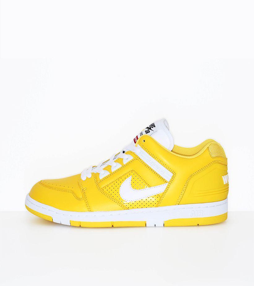 Nike SB AF2 Low Supreme 'Varsity Maize
