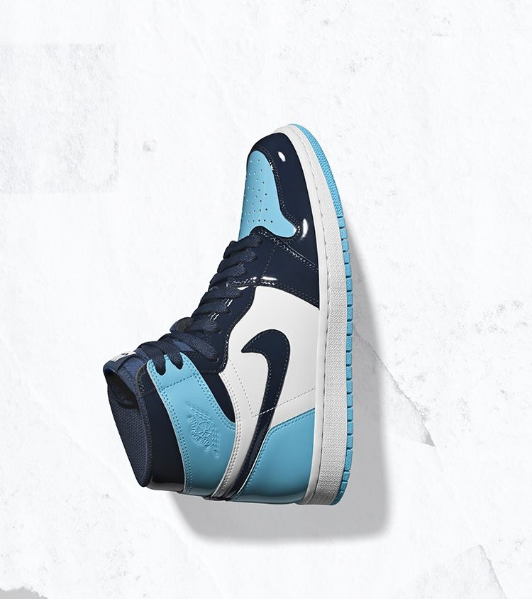 Women S Air Jordan 1 High Blue Chill Amp Obsidian Amp White
