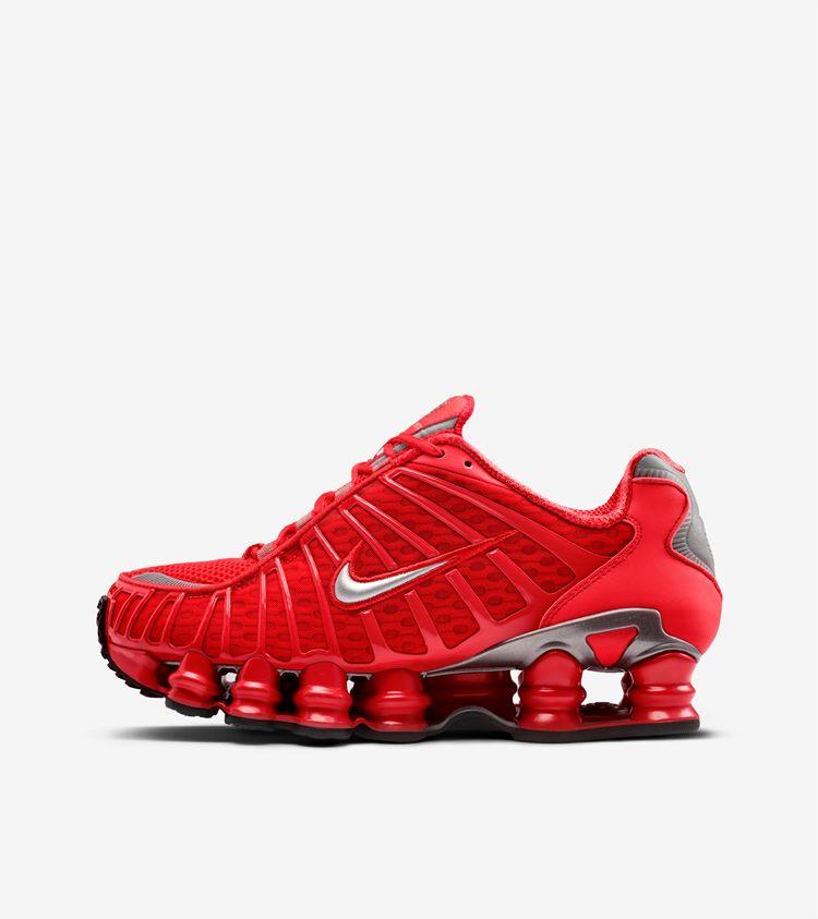 2d19517458ee Nike Shox TL  Speed Red   Metallic Silver  Release Date