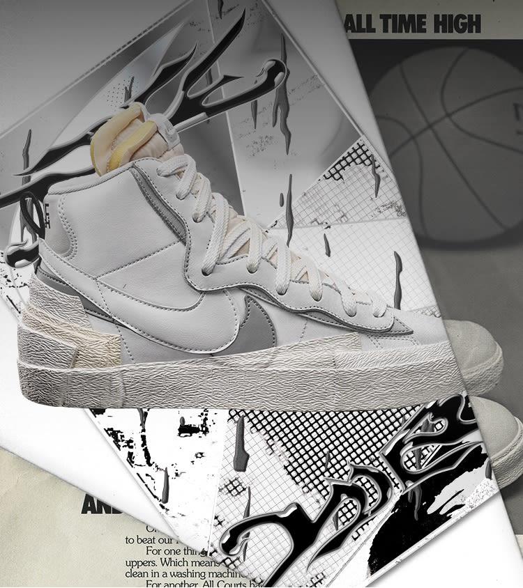 Abierto gráfico Nuevo significado  Nike x sacai Blazer Mid 'White/Wolf Grey' Release Date.. Nike SNKRS ID