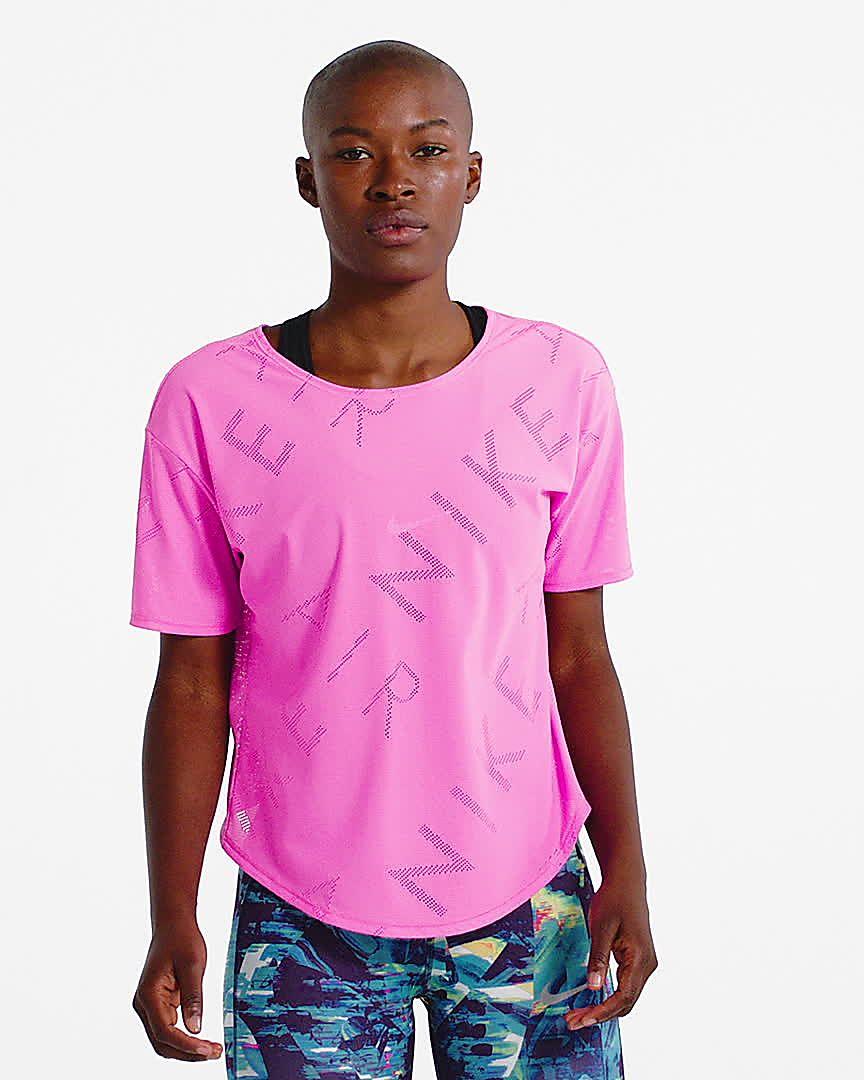Haut Nike Manches Pour Running Courtes De Femme À Air rodxCWBe