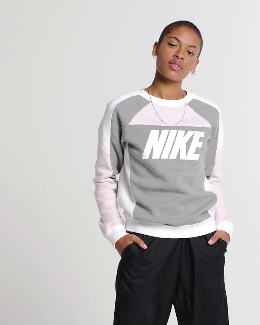 Sportswear Ronde Fleecetrui Kleurblokken Dames Hals Voor Met En Nike XwnP8k0O
