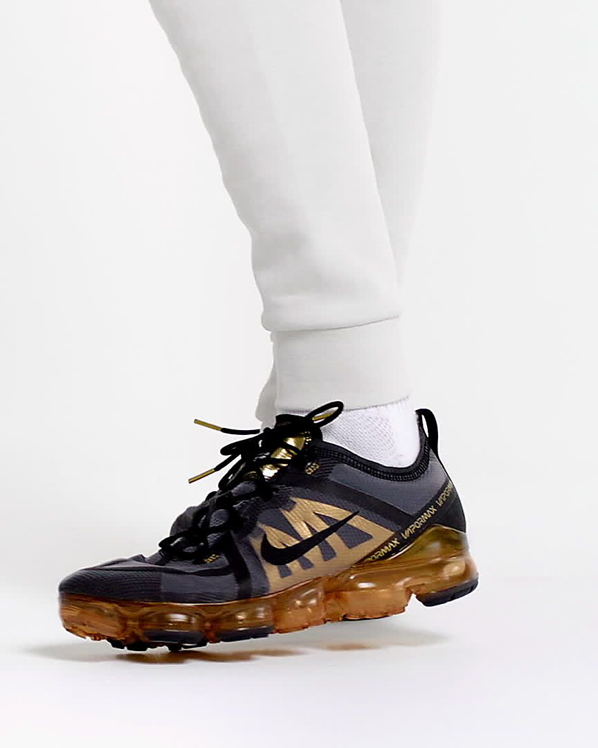 "Nike Air VaporMax 2019 ""BlackMetallic Gold"" For Sale"