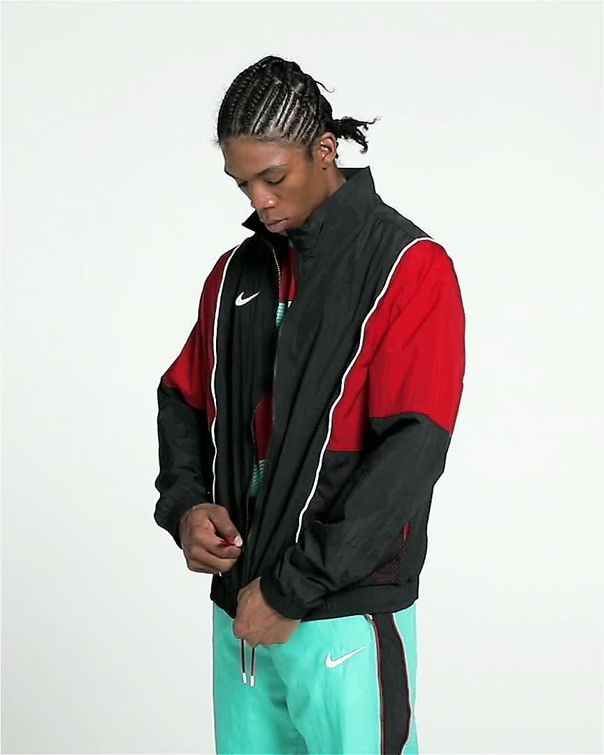 Nike Throwback Men s Tracksuit Basketball Jacket. Nike.com e0a867100