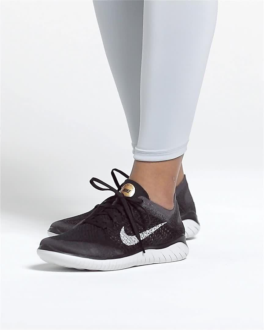 Detalles de Mujer Nike Free Rn Flyknit 2017 Zapatillas Grises 880844 002