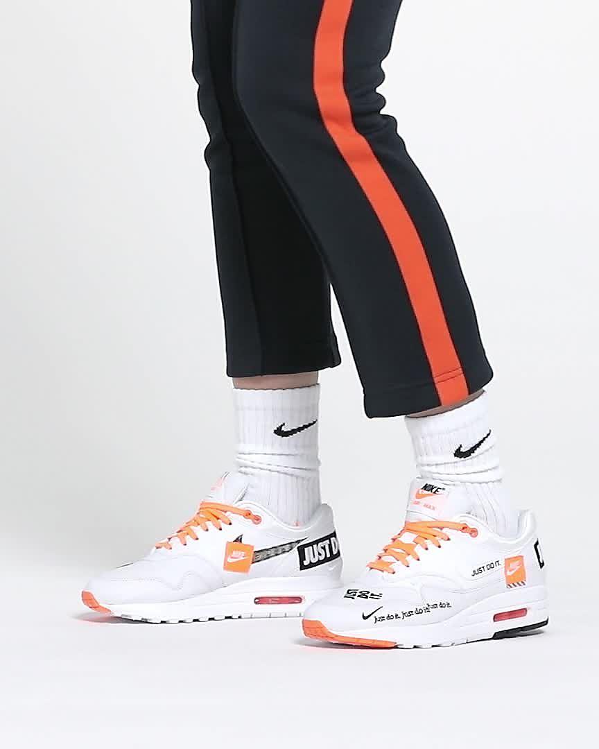 Rabatt 2018 Nike Wmns Air Max 1 LX *Just Do It* (White