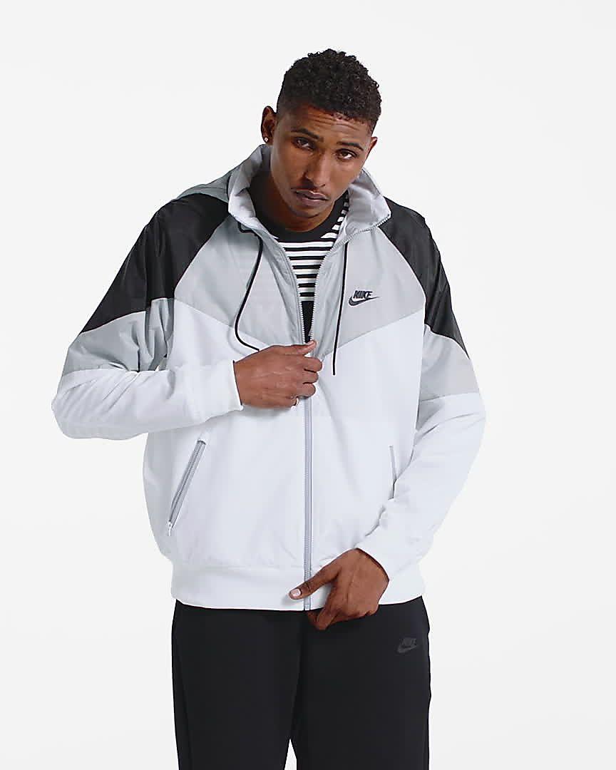 Nike Herren M NSW Windrunner Jacket Training Windjacke, Weiß