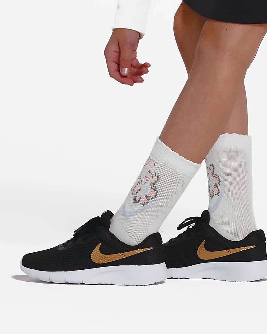 Details zu Nike Tanjun Turnschuhe Damen WeißWeiß Fitnessstudio Fitness Sneakers