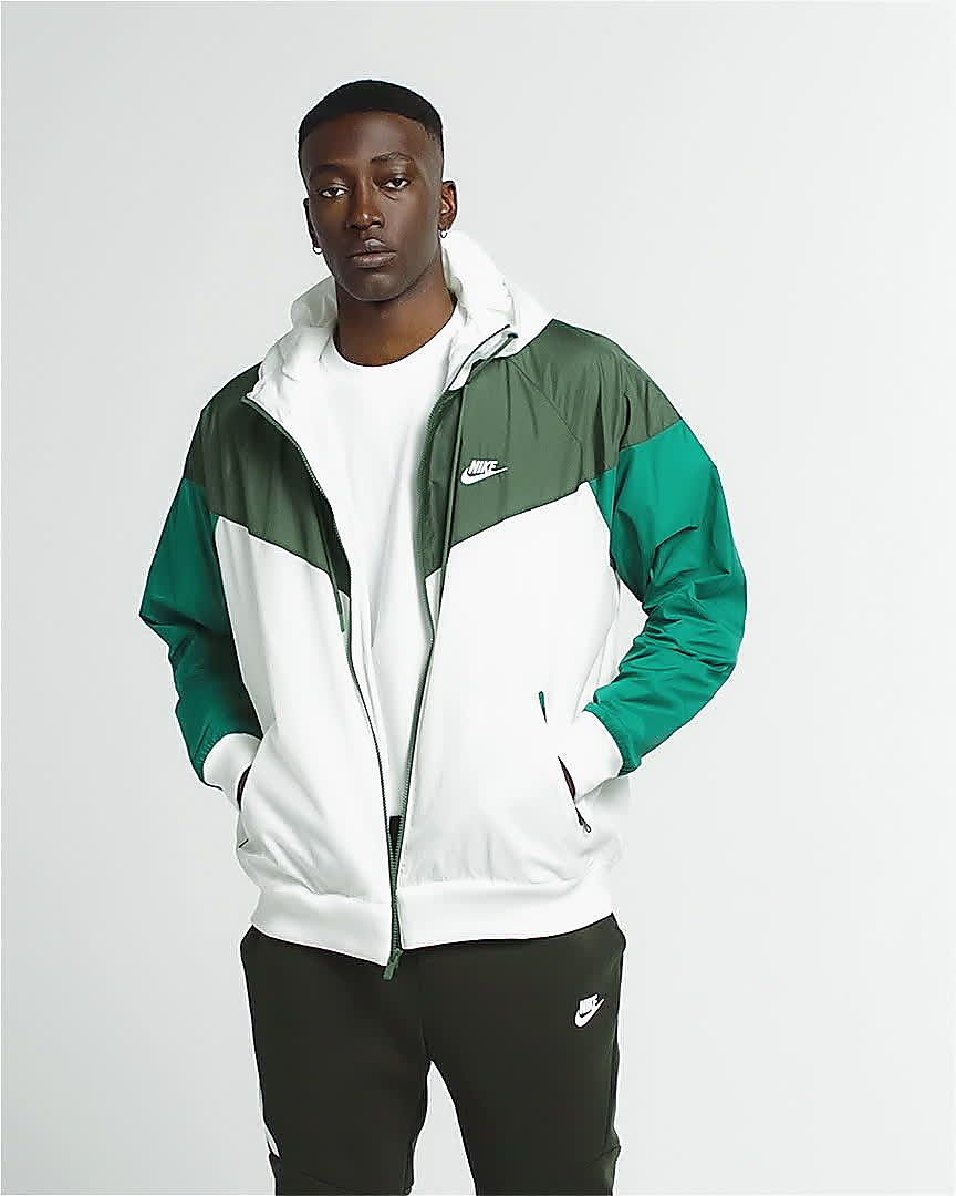Nike Bianco Cool Grey Sportswear Giacca A Vento Windrunner