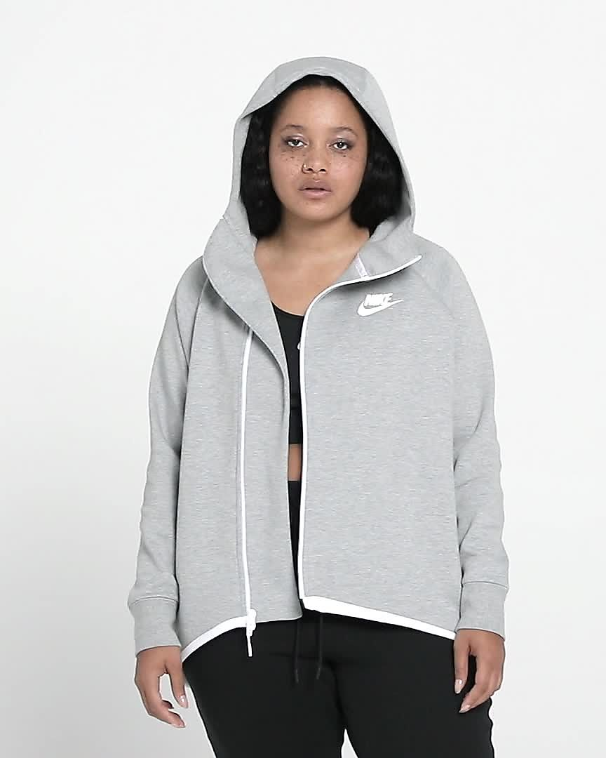 f84bc6de6cb7 Nike Sportswear Tech Fleece Women s Full-Zip Cape (Plus Size). Nike.com SA
