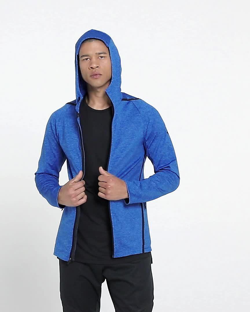 Nike Dri FIT Men's Long Sleeve Full Zip Training Hoodie