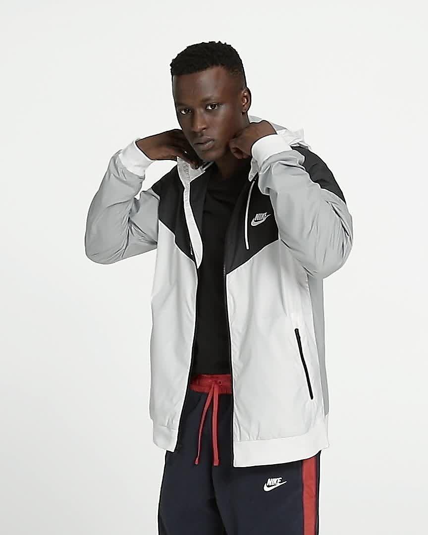 d7f5126bfccc Nike Sportswear WINDRUNNER Veste l茅g猫re blanc noir gris Vestes Homme MWYEENT