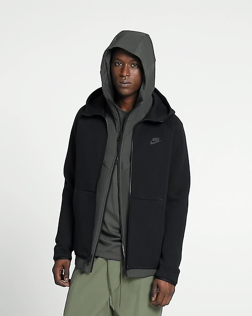 Felpa Con Cappuccio Nike Sportswear Tech Fleece bianco